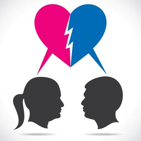 girl fight: breakup couple stock vector