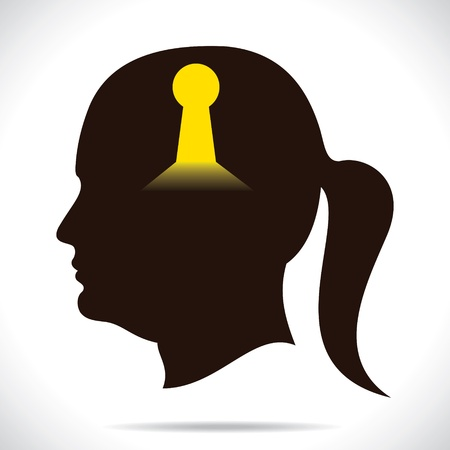 key whole in human head Stock Vector - 17763319
