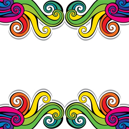 colorful abstract swirl background pattern stock vector Stock Vector - 17763375