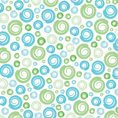 Green-Blue swirl pattern background stock vector Illustration