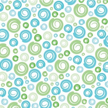 Green-Blue swirl pattern background stock vector Illustration