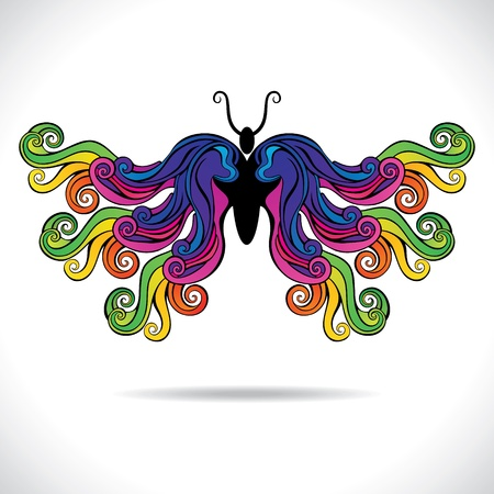 abstract colorful butterfly stock vector Vector