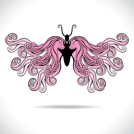 pink beautiful butterfly stock vector Vector