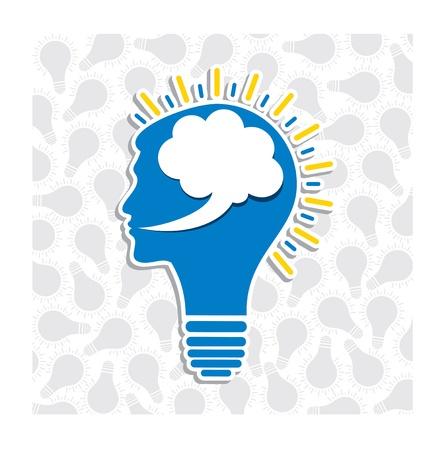 human head bulb stock vector Stock Vector - 17762988