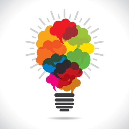 colorful message bubble bulb stock vector Stock Vector - 17762930