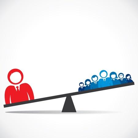 Vergleich Konzept der Business-Vektorgrafik
