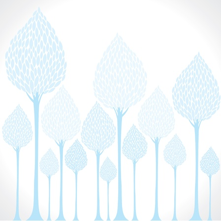 creative blue tree background stock vector Stock Vector - 17762949