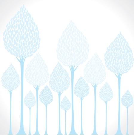 creative blue tree background stock vector Stock Vector - 17762949
