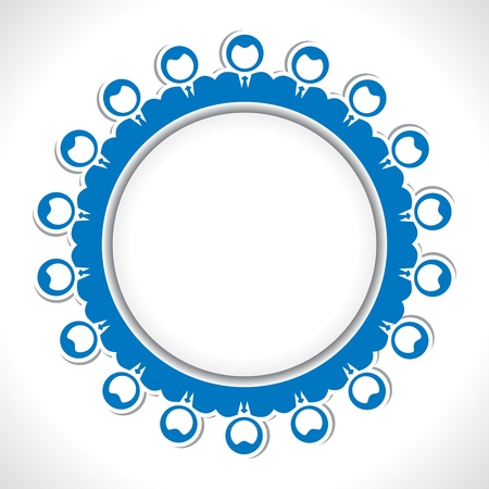 team of people arrange in round circle Stock Vector - 17763349