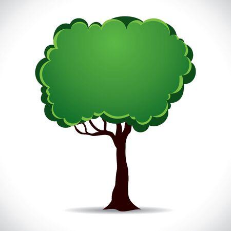 speak bubble: vector green tree stock vector