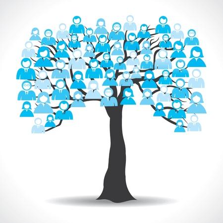 medium group of people: social media tree stock vector