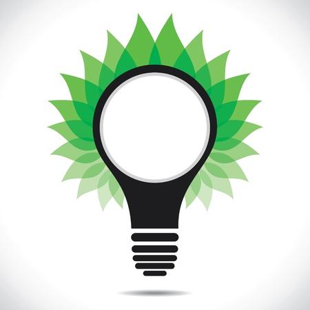 green leaf around bulb stock vector Stock Vector - 17763203