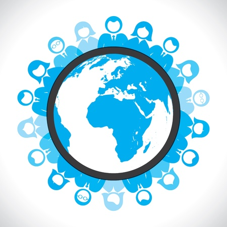 world people meeting concept Stock Vector - 17762965