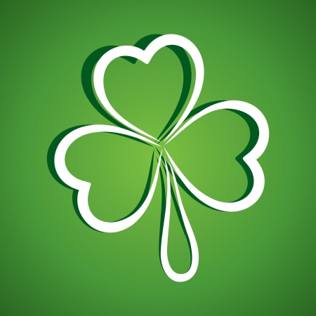 clover leaf shape: happy Patrick day stock vector