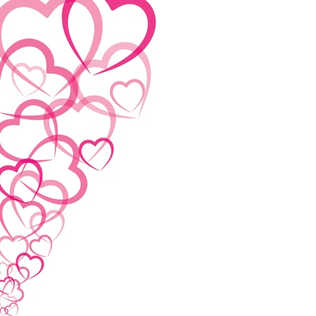 pink heart: pink heart greeting card stock vector