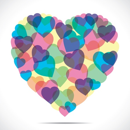 colorful heart make big heart stock vector Stock Vector - 17762962