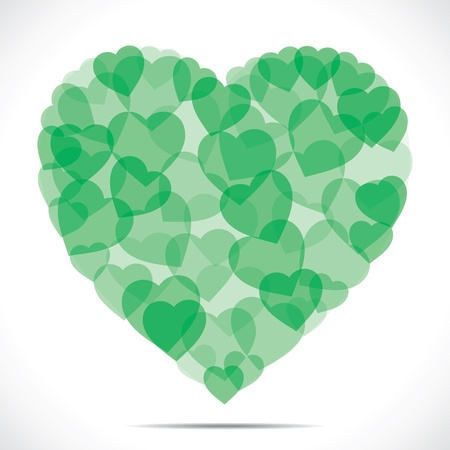 green heart shape make big heart Stock Vector - 17762967
