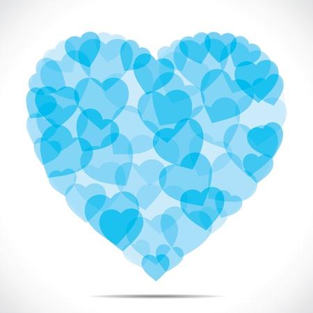 blue small heart  make big heart  Stock Vector - 17762964