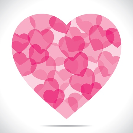 pink heart make big heart shape stock vector Stock Vector - 17762945