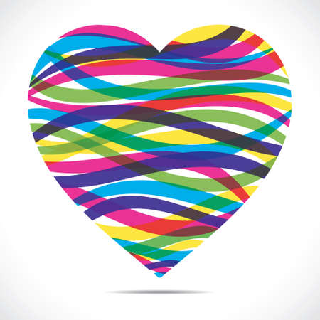 colorful strip heart stock vector Stock Vector - 17762953