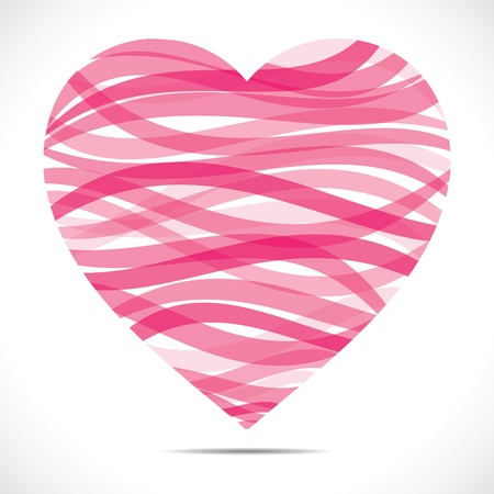 pink strip heart stock vector Stock Vector - 17762951