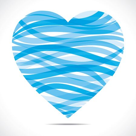 roses and hearts: blue strip heart shape  Illustration