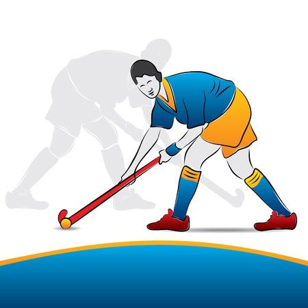 vrouwen hockey speler stock vector
