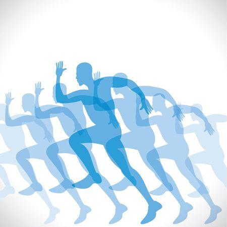 blue men runner stock vector Stock Vector - 17762936