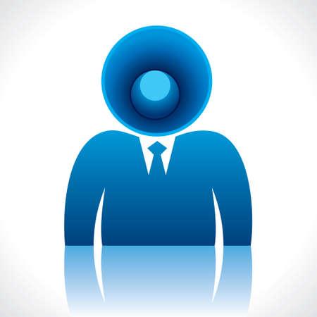 speaker head of businessmen  Stock Vector - 17763047