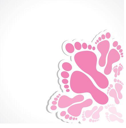 pink foot vector background Stock Vector - 17763035