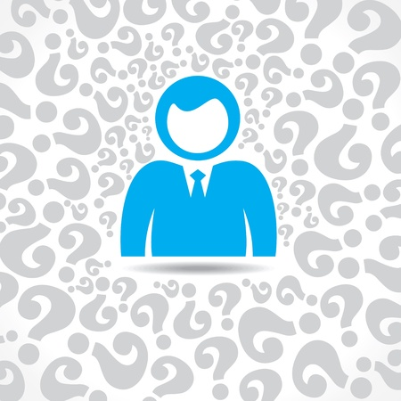 people with question mark background stock vector Stock Vector - 17763080