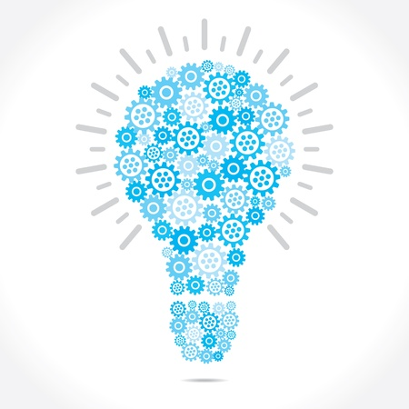 blue gear  make bulb shape Illustration