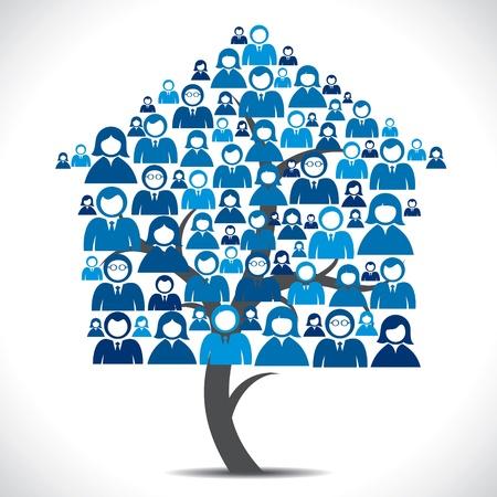 vie �tudiante: arbre de la maison des gens d'affaires