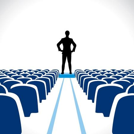 leadership development: business leader stock vector Illustration