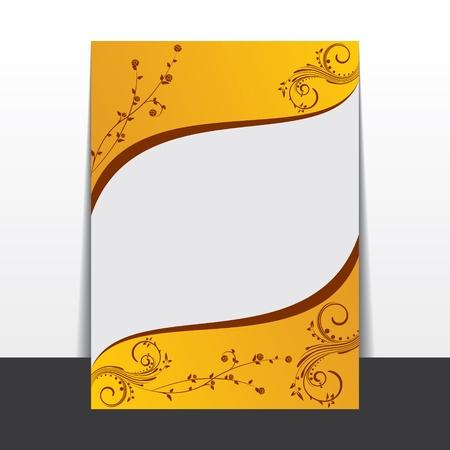 leaflet design:  Creative floral leaflet design stock
