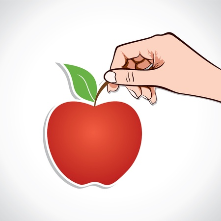 nonverbal: Apple in hand stock