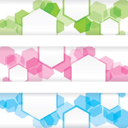 Abstract colorful banner with forms of empty frames Stock Vector - 17931361