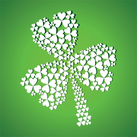 reflaction: abstract st patrick day stock