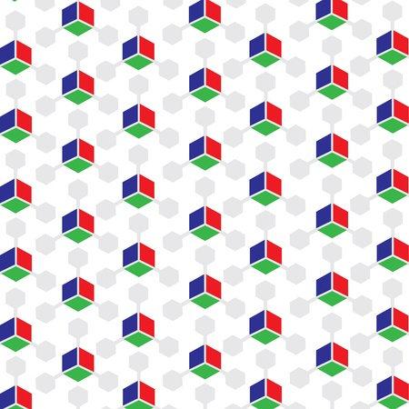 RGB Colored 3D Cube patterned background stock  Vector