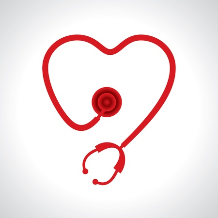 Stethoscope make a heart shape stock  Illustration
