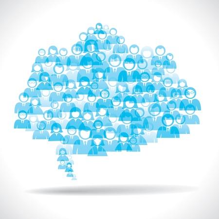 medium group of people: blue people message cloud stock vector
