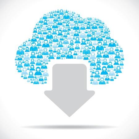 Cloud Computing-Konzept Download Vektorgrafik