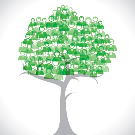 green people tree stock vector Stock Vector - 18053508