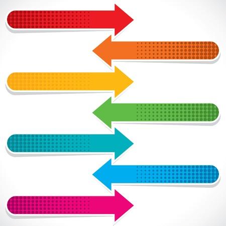 colorful web arrow stock vector Stock Vector - 18053367