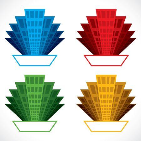 colorful building icon stock vector Stock Vector - 18053429