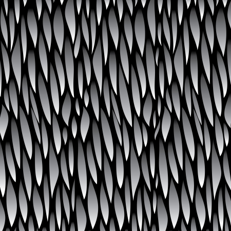 white grey leaf pattern background Vector