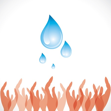 drops of water: save water concept stock vector Illustration