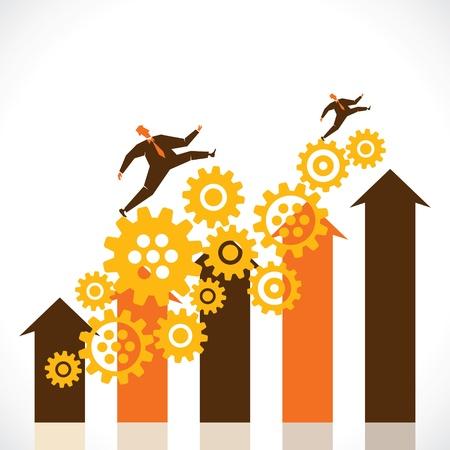 international money: business progress graph stock vector