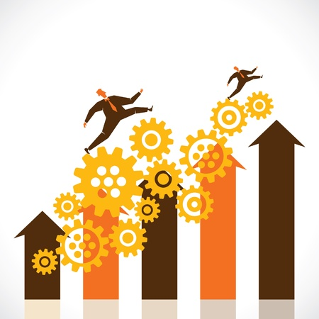 business progress graph stock vector