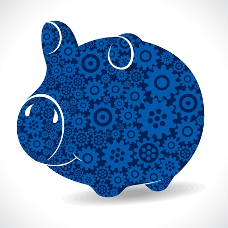 gear piggy bank stock vector Stock Vector - 18053503